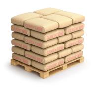Цемент в мешках