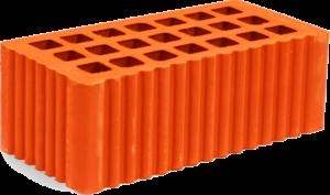 Кирпич строительный полуторный щелевой 88х120х250 мм рифленый