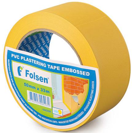 Малярная ПВХ-лента на тиснёной виниловой основе Folsen