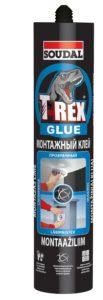 Монтажный клей T-REX прозрачный 310мл Soudal