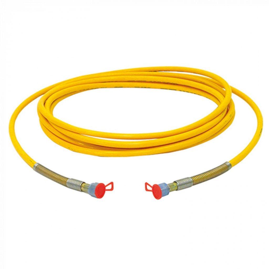 Шланг DN10, 25 MPa, 3/8 дюйма, 15 метров, жёлтый