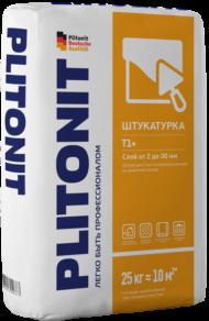 Штукатурная цементная смесь ПЛИТОНИТ Т1+