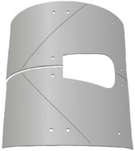 Комплект брони 6 мм Brinkmann с центральным выходом